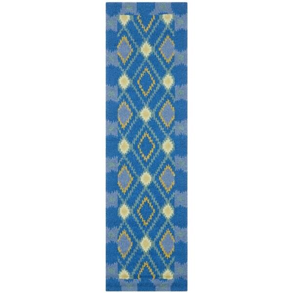 Safavieh Four Seasons Indoor/ Outdoor Hand-hooked Indigo Rug (2' x 6')