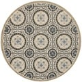 Safavieh Four Seasons Indoor/ Outdoor Hand-hooked Grey Rug (6' Round)