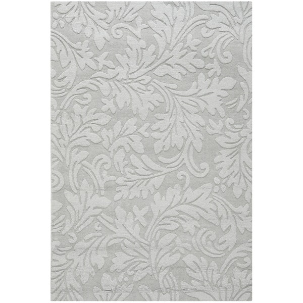 Safavieh Handmade Fern Scrolls Grey New Zealand Wool Rug (3' x 5')