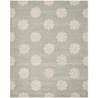 """Safavieh Handmade Soho Gray/Ivory New Zealand Wool Area Rug (8'3"""" x 11')"""
