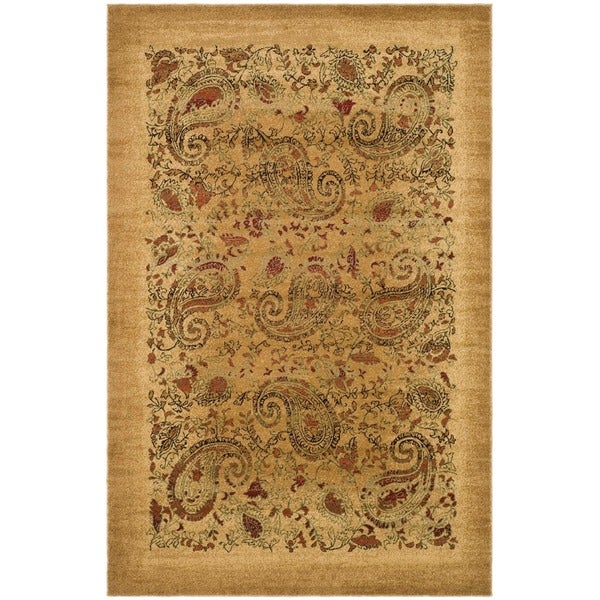 Safavieh Lyndhurst Collection Paisley Beige/ Multi Rug (5 3 x 7 6)
