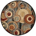 Safavieh Lyndhurst Circ Grey/ Multi-colored Rug (5'3 Round)