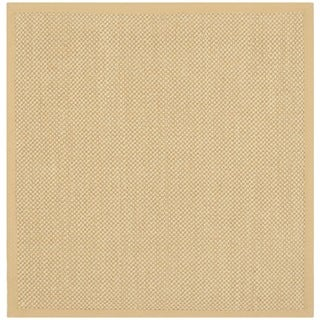 Hand-woven Resorts Natural/ Beige Fine Sisal Rug (4' Square)