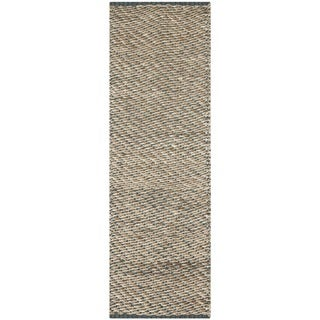 Chucky Natural Fibers Sisal Natural/ Blue Rug (2' 6 x 8')