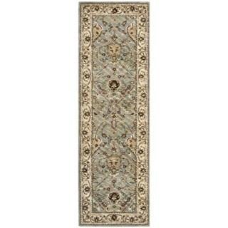 Safavieh Handmade Mahal Blue Grey/ Ivory New Zealand Wool Rug (2'6 x 8')
