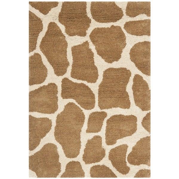 Safavieh Handmade Giraffe Beige New Zealand Wool Rug (2' x 3')