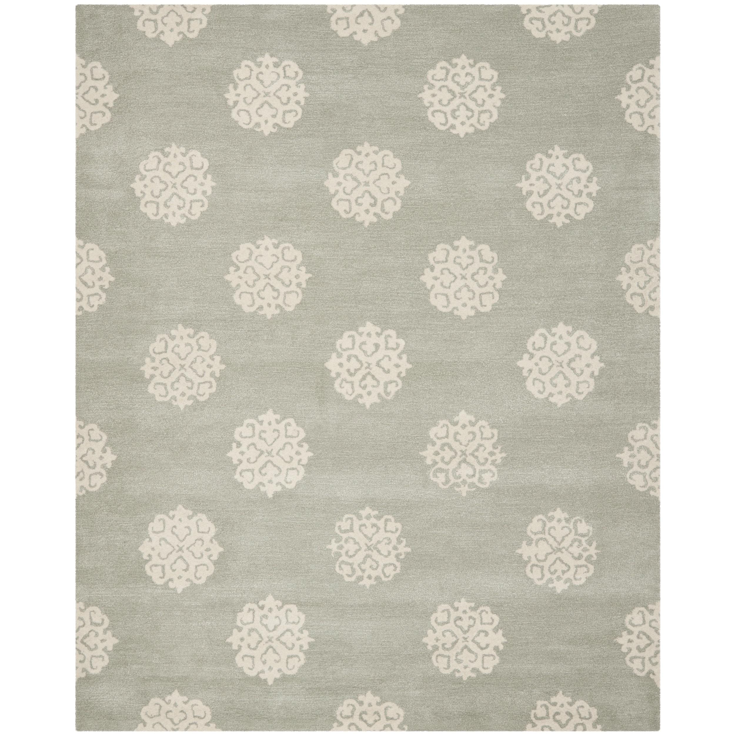 Safavieh Handmade Soho Gray/Ivory New Zealand Wool Area