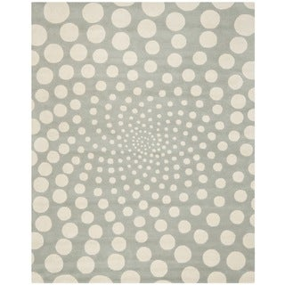 Handmade Soho Grey/ Ivory New Zealand Wool Rug (8'3 x 11')