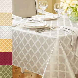 Lenox Laurel Leaf Lattice Cotton Blend Table Cloth