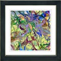 Studio Works Modern 'Yellow Tangle' Framed Print