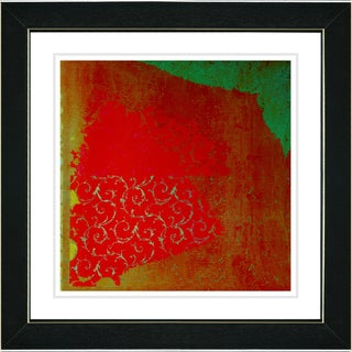 Studio Works Modern 'Spring Fever Red' Framed Print