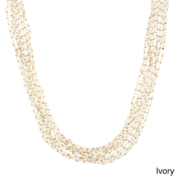 KC Signatures Goldtone Seed Bead Layered 35-inch Necklace