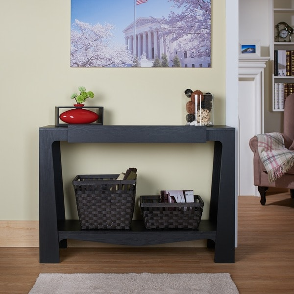 Furniture of America Urbana Black Modern Hall-Entry Way Console Table