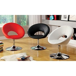 Furniture of America 'Millopi' Padded Modern Leatherette Swivel Chair