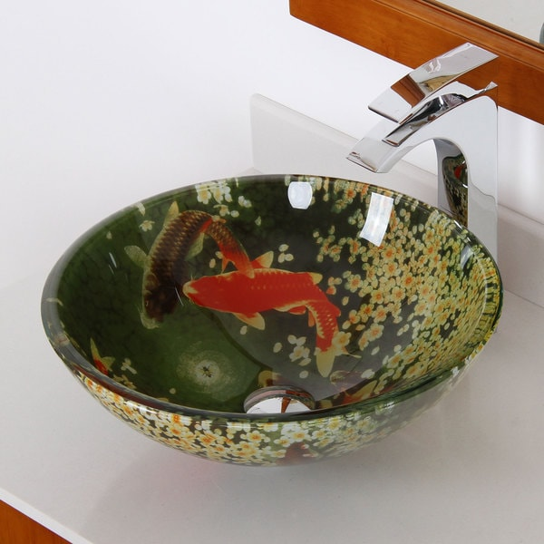Elite Tempered Glass Bathroom Vessel Sink
