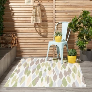 Waverly Sun N' Shade by Nourison Violet Indoor/Outdoor Rug (5'3 x 7'5)