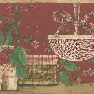 Red Basket Border Wallpaper