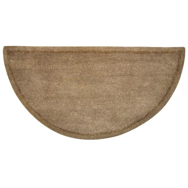 UF Hearth Beige Wool Rug (1'10 x 3'8)