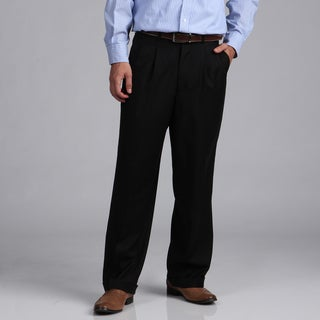Phat Farm Men's Black Pinstriped Wool Wide Leg Pants