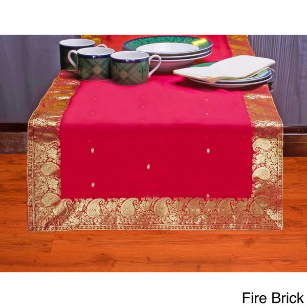 Hand Crafted 14 Inch X 70 Inch Sari Table Runner India