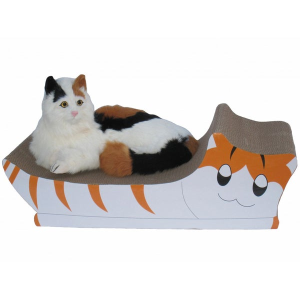 Go Pet Club Cat Shape Scratching Board with Catnip
