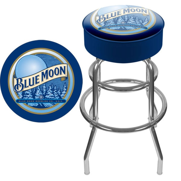 Blue Moon Padded Bar Stool