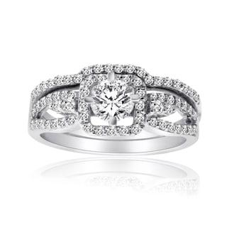 10k White Gold 1ct TDW Diamond Bridal Ring Set (H-I, I1-I2)
