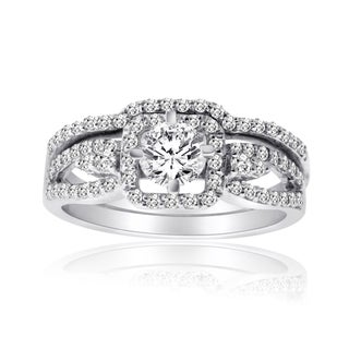 10k White Gold 1ct TDW Diamond Bridal Ring Set (H-I, I1-I2)