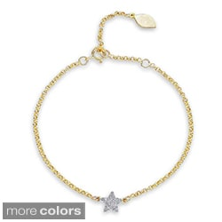 14k Gold or Silver 1/6ct TDW Diamond Star Bracelet (J-K, I2-I3)