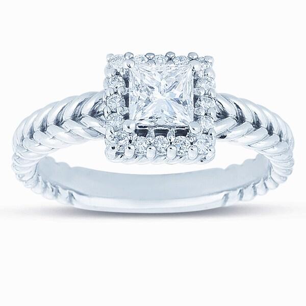 14k White Gold 5/8ct TDW Diamond Engagement Ring (H-I, I1-I2)