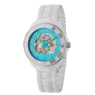 Android Men's 'Divemaster' Mystic Blue Skeleton Automatic Watch