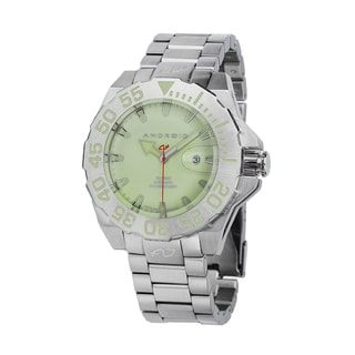 Android Men's 'Divemaster Silverjet 500 Automatic' Green Watch