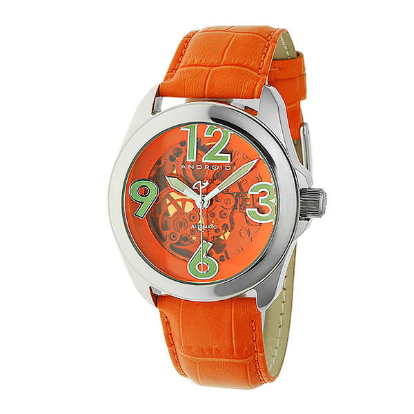 Android Men's 'Concept T40' Orange Skeleton Automatic Watch