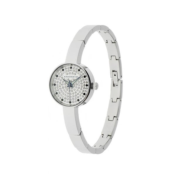 Android 'Mini Star' Silver Crystal-accented Watch