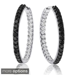 10k White Gold 1ct TDW Diamond Earrings