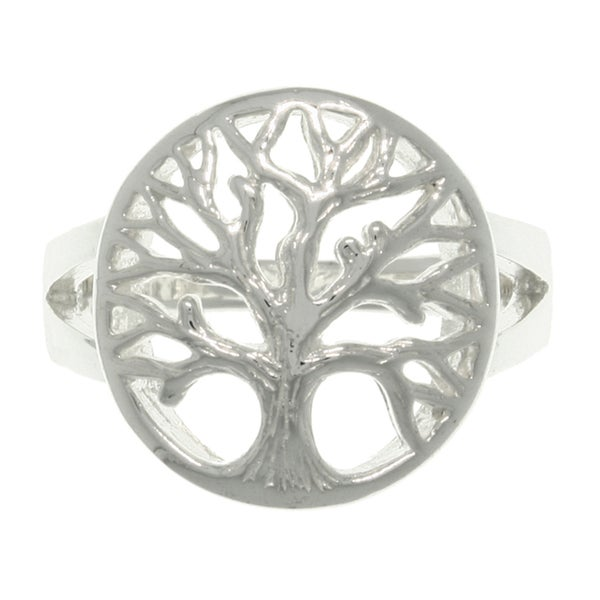 CGC Sterling Silver Tree of Life Ring