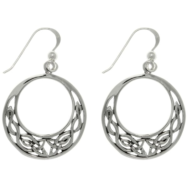 Sterling Silver Celtic Round Earrings 10834242