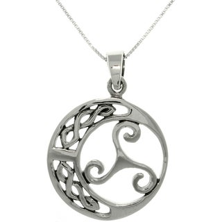 Carolina Glamour Collection Sterling Silver Celtic Knot Swirl Necklace
