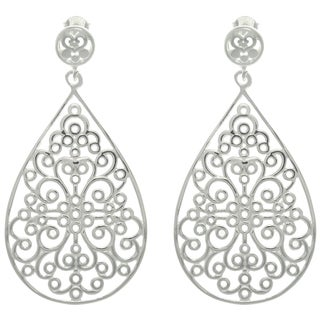 CGC Sterling Silver Celtic Teardrop Earrings