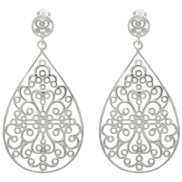 Carolina Glamour Collection Sterling Silver Celtic Teardrop Earrings