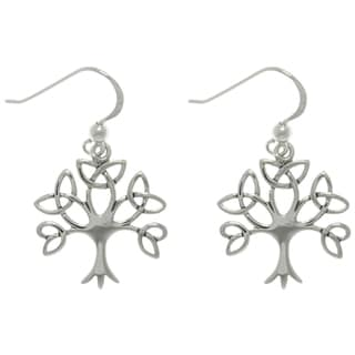 CGC Sterling Silver Celtic Tree Earrings