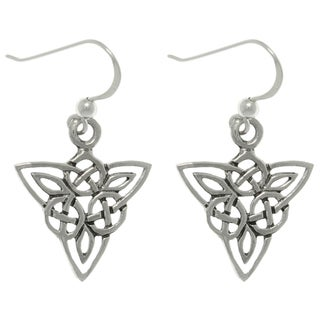 CGC Sterling Silver Celtic Triangle Knot Earrings