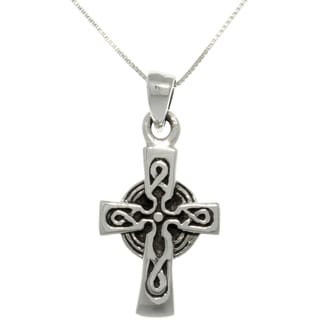 CGC Sterling Silver Celtic Cross Necklace
