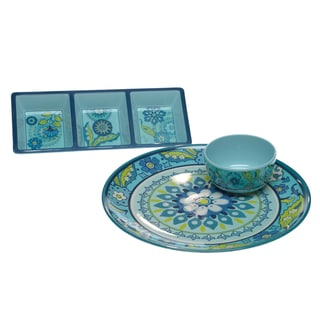 Certified International Capri Blue 2-piece Serving Set