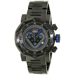Swiss Precimax Men's 'Vector Pro SP13093' Black/ Blue Swiss Chronograph Watch