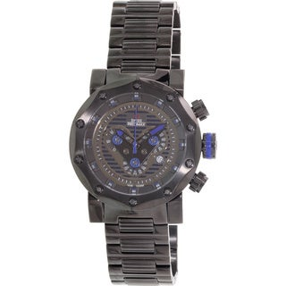 Swiss Precimax Men's 'Vector Pro SP13093' Black/ Blue Swiss Chronograph Watch