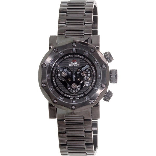 Swiss Precimax Men's 'Vector Pro SP13094' Black/ Grey Swiss Chronograph Watch