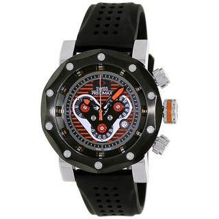 Swiss Precimax Men's 'Vector Pro Sport' Black/ Orange Swiss Chronograph Watch