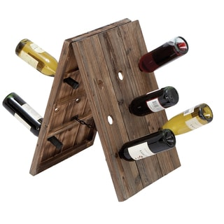 Casa Cortes Elements Aged Collapsible 18 Bottle Holder Wine Rack