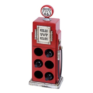 Casa Cortes Route 66 Gas Pump 6-bottle Wine Rack